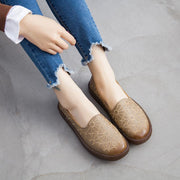 Women Embroidered Soft Bottom Comfortable Cowpea Shoes