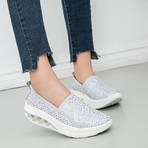 Women's Thick-soled Wedges Loafers