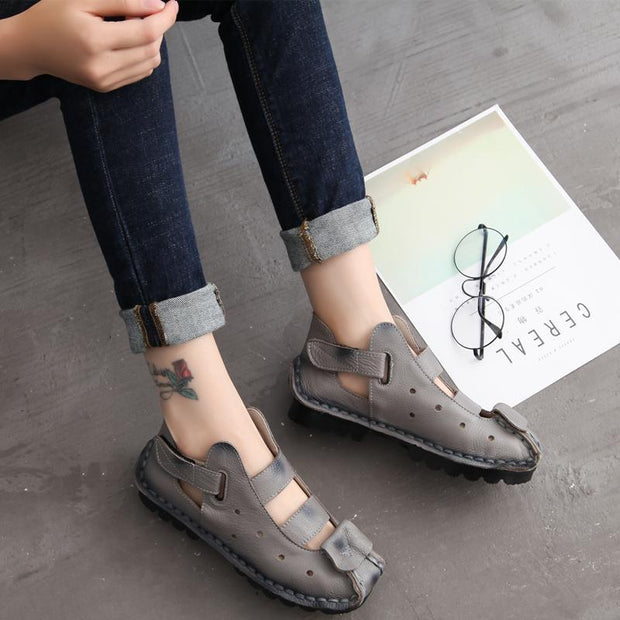 Women Spring's & Summer's Breathable Cowhide Sandals
