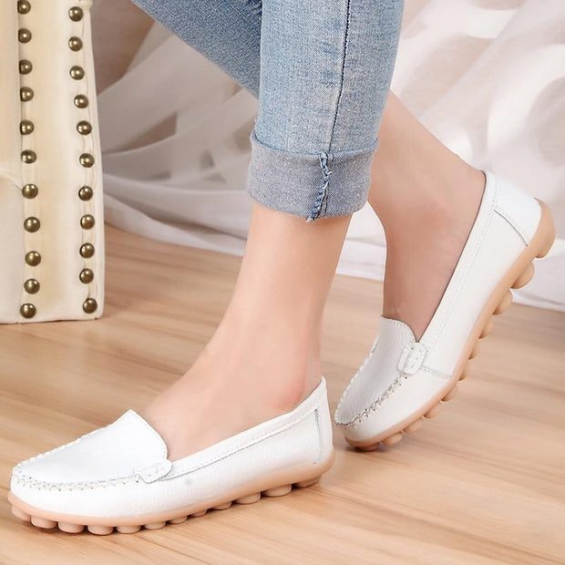 Women's Winter Plus Velvet  Leather Shoes