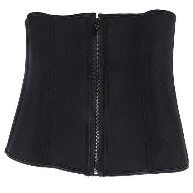 Womens Steel Boned Neoprene Waist Cincher Zip&Hook Body Shapers