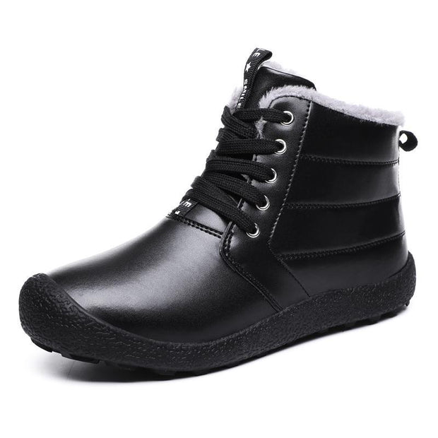 Pearlzone_Men Water-Resistant High-Top Cotton Snow Boots