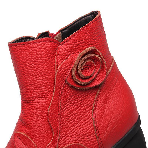 Women Winter Retro Natural  Warm Boots