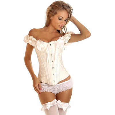 Women's Steampunk Gothic Corset Overbust Bustiers Sexy Gothic Steel Boned Corset