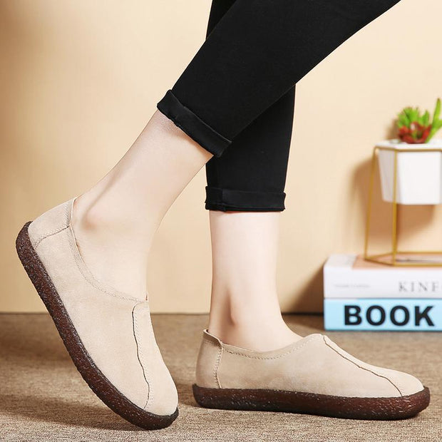 Women's plus velvet warm peas shoes