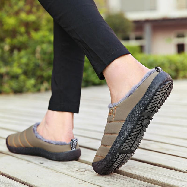 Women No-slip Fur Lined Cotton Shoes