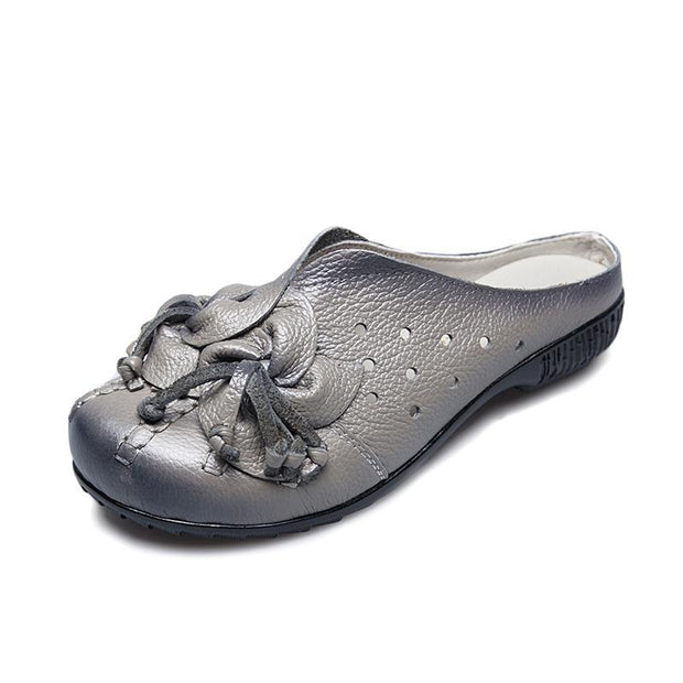 Women's Hollow out Soft Bottom Wear Resilient Flower Sandals Slippers Mules