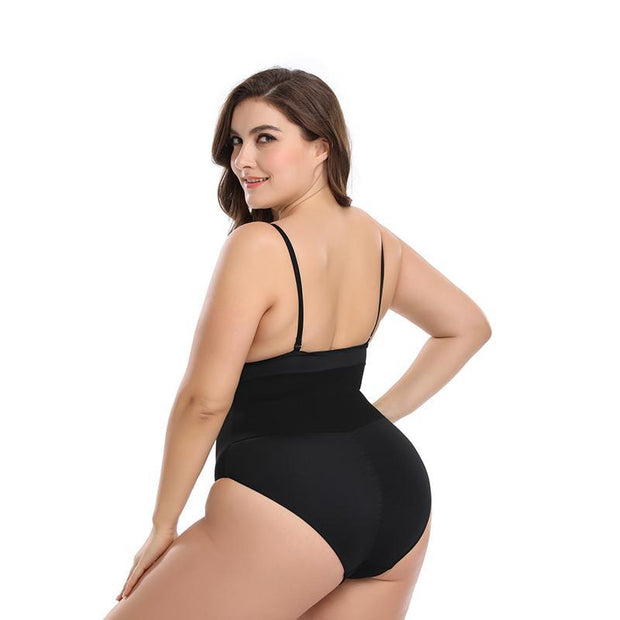 Women Solid Mesh Tummy Control Body Shapewear Push Up Overbust Slimming Bodysuit 116817