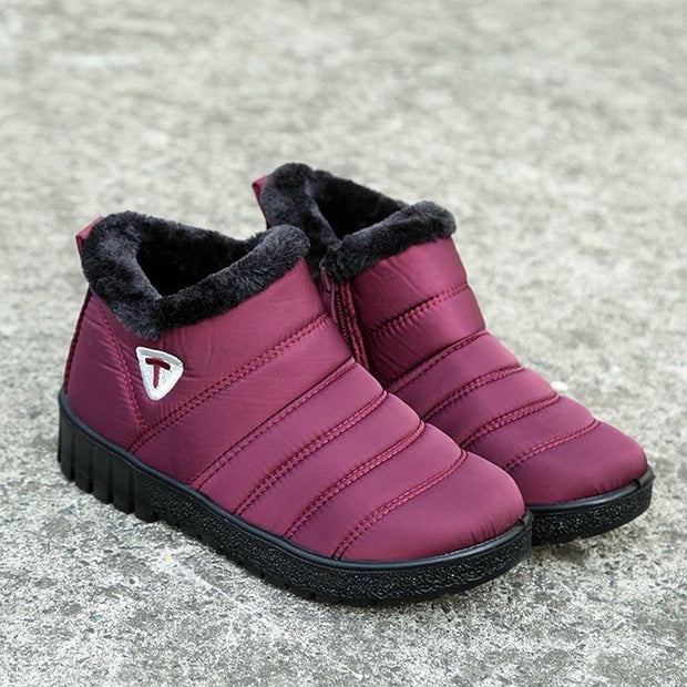 Women Winter Shoes Waterproof Women Snow Boots Short boots Ankle boots