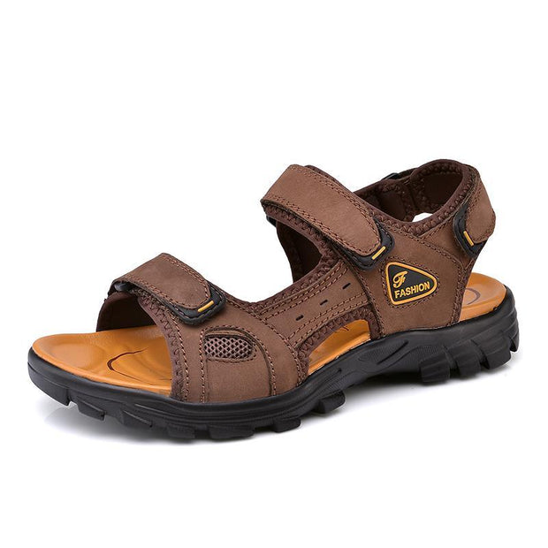 Men's Leather Soft Comfortable Casual Beach Sandals
