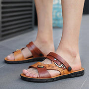 Men's Leather Sandals & Slippers