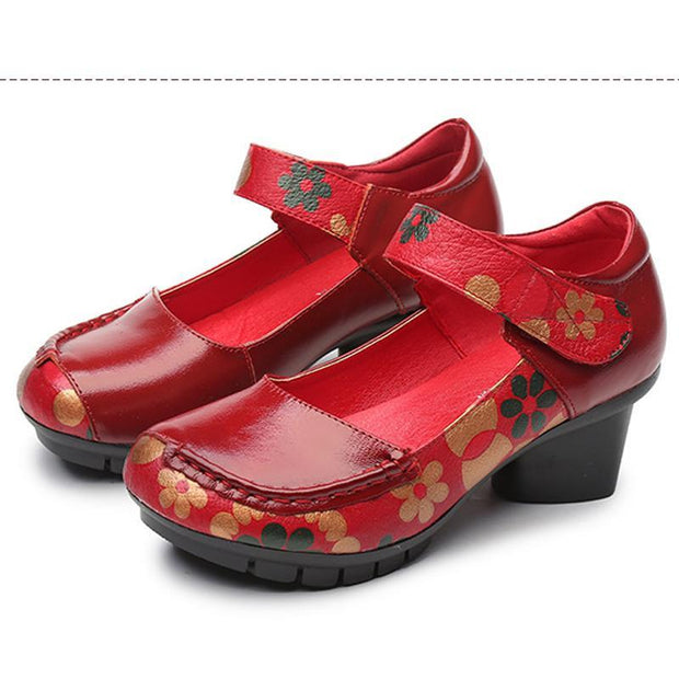Pearlzone_Embroidered shoes,Shoes for spring and fall,Comfortable middle-aged shoes. 117983