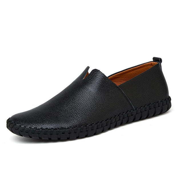 Pearlzone_Men Genuine Leather Stitching Loafers 118430