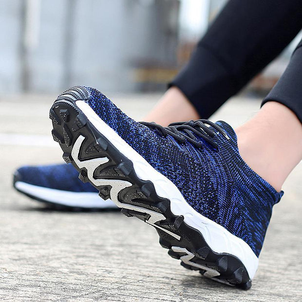 Pearlzone_Men New spring breathable comfortable sports shoes casual running shoes flying woven running shoes 118464