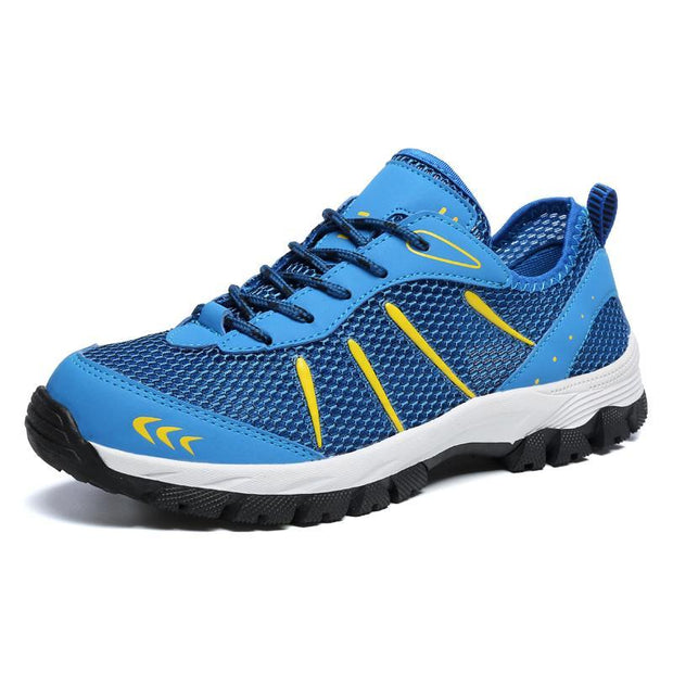 Pearlzone_Men Outdoor cross-country hiking shoes on foot, light and breathable 119104