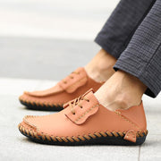 Men's Outdoor Handmade Lace-up Hand Stiching Casual Loafers