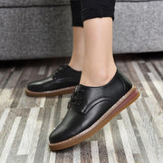 Women's shoes large size Korean version of the small shoes British wind with flat shoes 118173