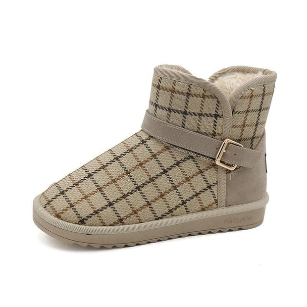 Women's Autumn and Winter Japanese style Plus Cotton Snow Boots