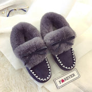 Women Winter  Plus Cotton Warm Furry Peas Shoes