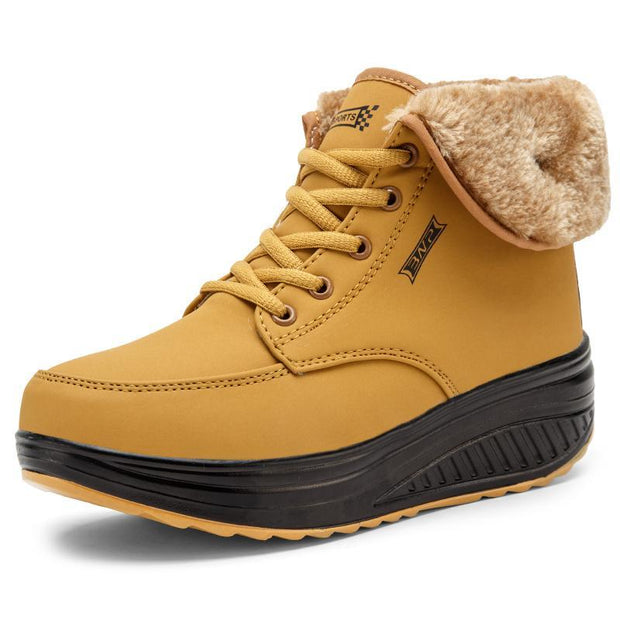 Women's Fur Lined Snow High Increased Shoes