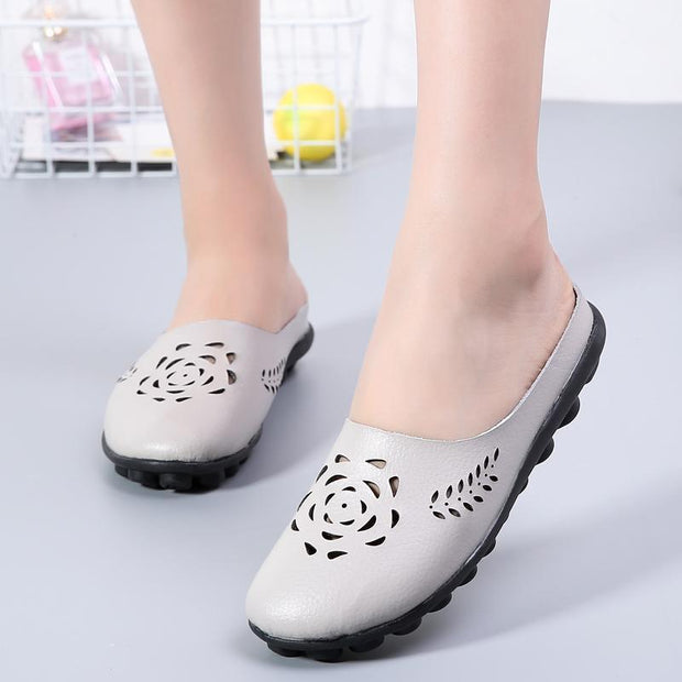 Pearlzone_Hollowed-out women's shoes in large half-measures 117355