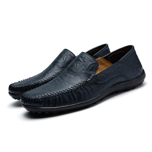 Men's Genuine Leather Hand Stiching Peas Shoes