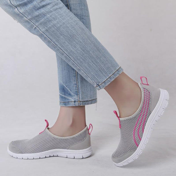 Women  Casual Breathable Mesh Running Flats Sneakers