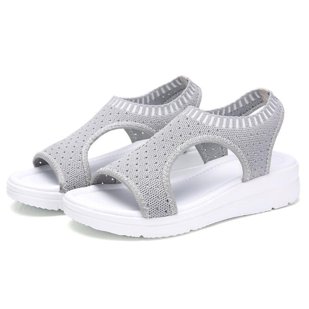 Women's Ultra-light Large Size Breathable Non-slip Knit Sandals