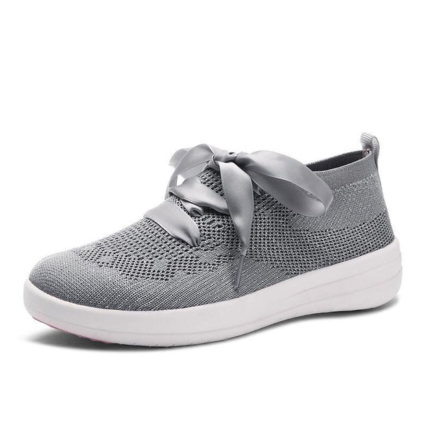 Women's shoes fly and weave light and comfortable breathable MD bottom level casual shoes