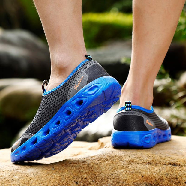 Men's shoes, outdoor netting, breathable, soft, comfortable running sneakers 120810