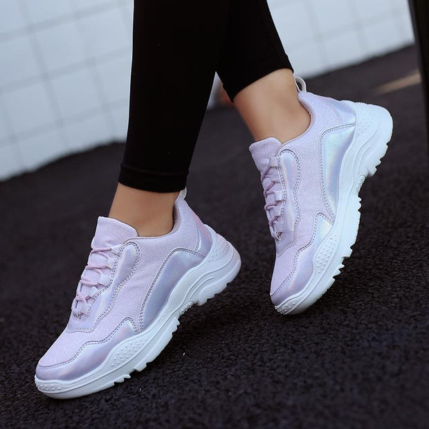 Women's Leisure sports platform shoes outdoor breathable running shoes  120641