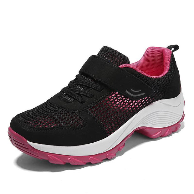 Women's Casual Large Size Walking Sneakers Lightweight Breathable Mesh Running Shoes Size 35-42 119983