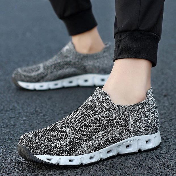 Man Breathable Mesh Black Sneakers Shoes