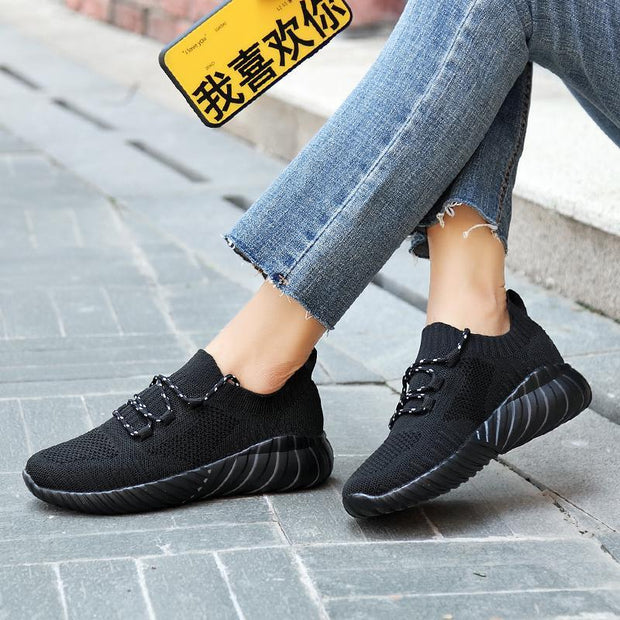 Women's New Flying Woven Breathable Casual Sneakers