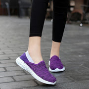 Women's Shoes Large Size Flying Woven Casual Shoes 35-42
