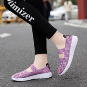 Women Lightweight Hand-woven Elastic Sneakers