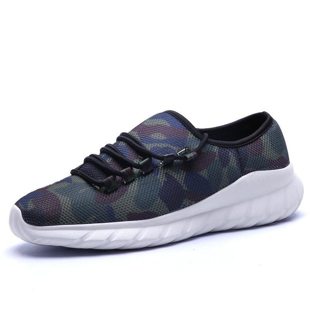 Men's Leisure Camouflage Running Shoes Non-Slip Breathable Light Sneaker