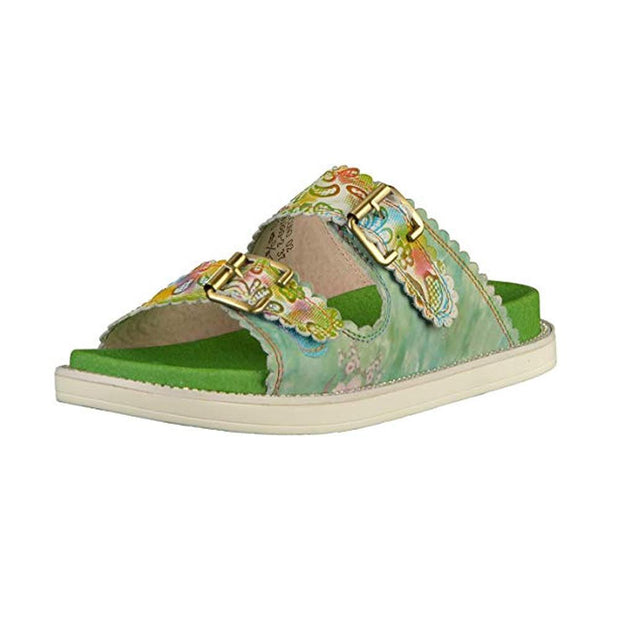 LAURA VITA Facucono 02 Retro Genuine Leather Handmade PAINTED VELCRO Original Comfortable SANDAL 123794