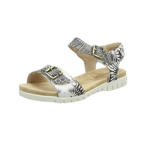 LAURA VITA Dobby 03 Retro Genuine Leather Handmade PAINTED LASER Original Comfortable SANDAL 125015