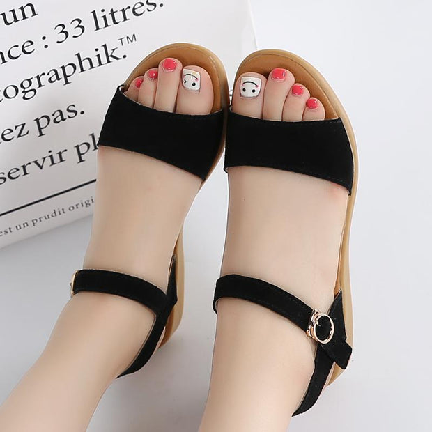 Women's fashion casual trend large size flat sandals 124059