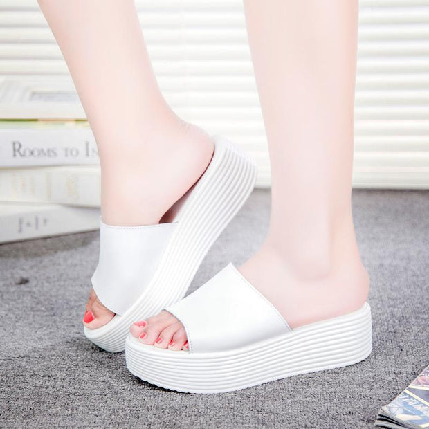 Women's fashion casual trend non-slip platform sandals 124020