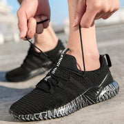 Men's lightweight fashion flying woven sports shoes casual breathable running shoes 127142