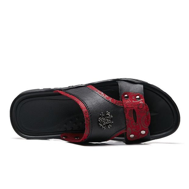 Men's casual trend flat breathable slippers 126947