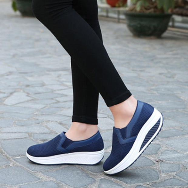New Women's Fashion Mesh Rocking Shoes Breathable Casual Sneakers Outdoor Sports Shoes