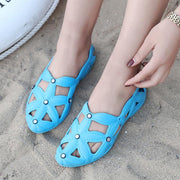 Women's Ultralight Sandals Flat Casual Mother Shoes Beach Summer Hollow Shoes 129956