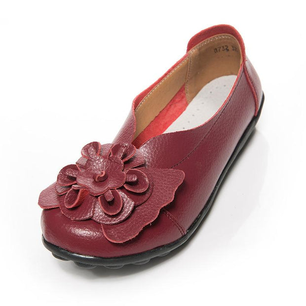 new set of feet flower mother shoes Four seasons flat bottom non-slip peas shoes 131042
