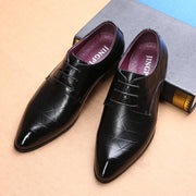 Large Size Men British Style Leather Casual Formal Dress Shoes 131048