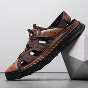 Classic Men Soft Sandals Comfortable Men Summer Shoes Men Roman Comfortable Leather Sandals 128261