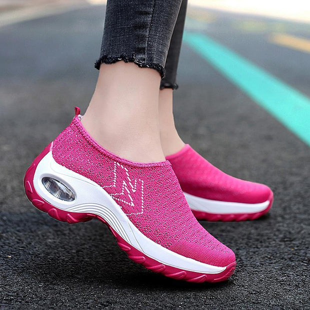 Women's Shoes Large Size Breathable Non-slip Flying Woven Shoes 35-42 131182