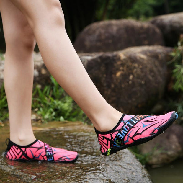 Women's Shoes New Large Size Swimming Shoes Beach Shoes Driving Shoes Water Shoes 35-42 132380